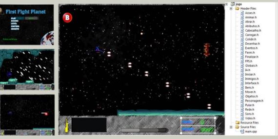 FIRST FIGHT PLANET- Jogo de Nave em Scrolling Horizontal Feito em C